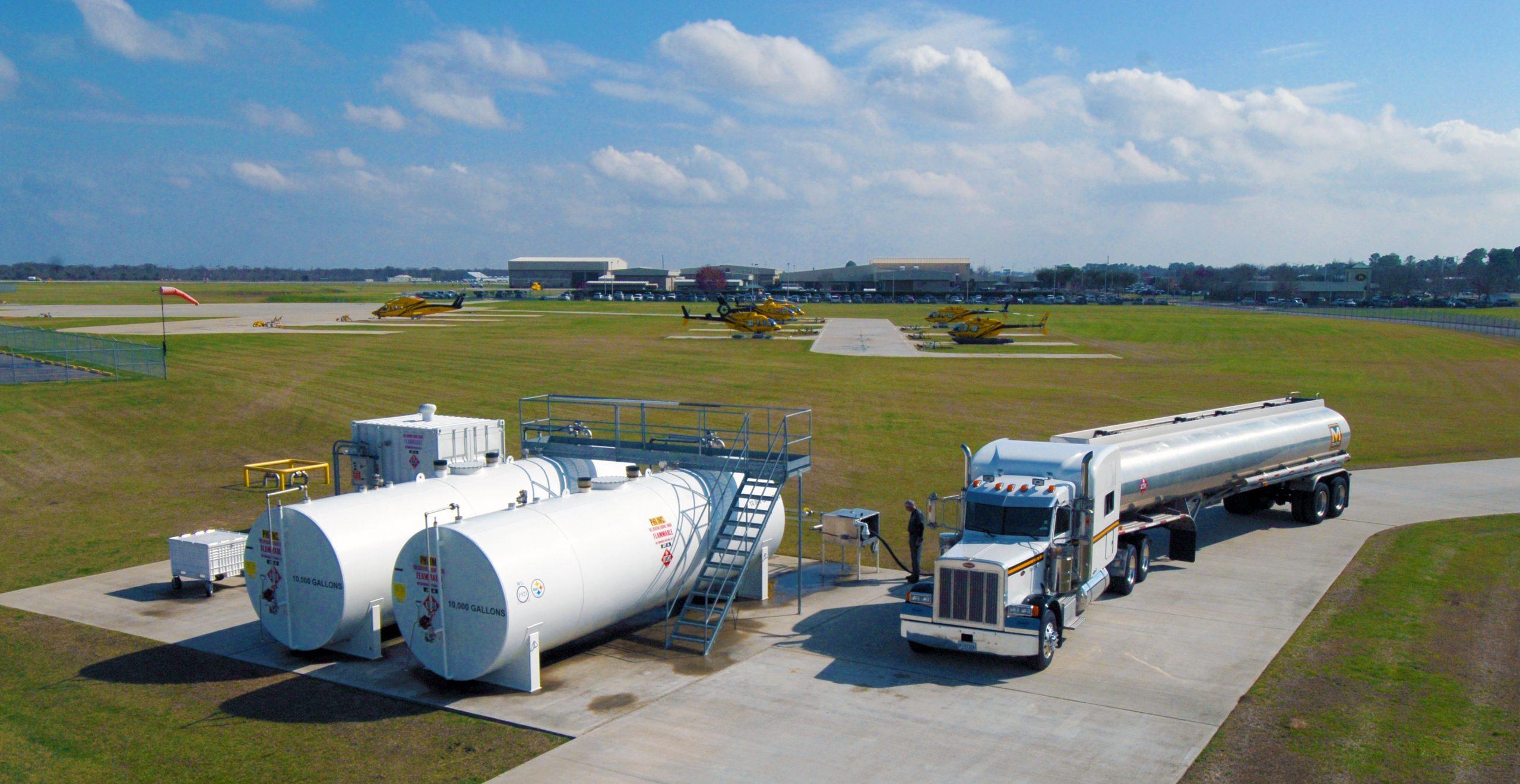 Jet-Fuel Tanker unloading